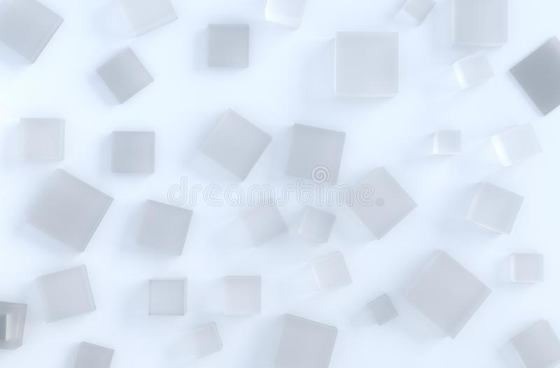 Chiuda su del cubetto di ghiaccio su fondo immagine stock