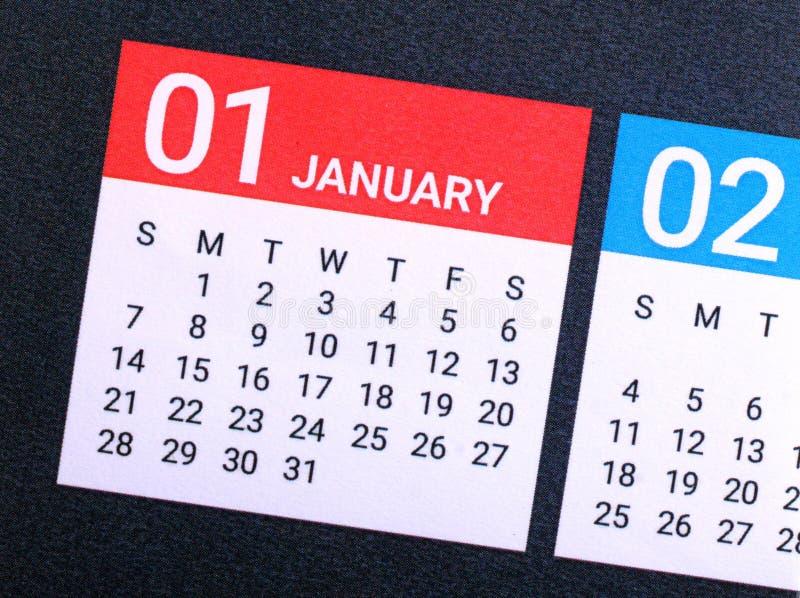 Chiuda su del gennaio 2018 immagini stock