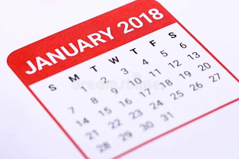 Chiuda su del gennaio 2018 fotografie stock