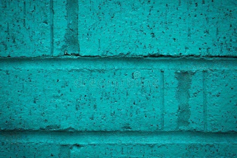 Chiuda su del muro di mattoni del turchese fotografia stock libera da diritti