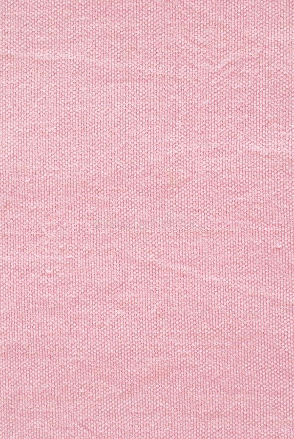 Chiuda su del tessuto rosa del percalle immagini stock libere da diritti