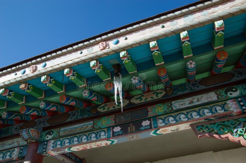 Chiuda su del tetto del tempio immagini stock libere da diritti