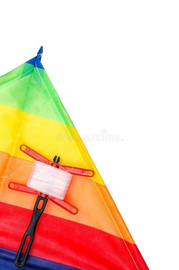 Chiuda su dell'aquilone dell'arcobaleno isolato fotografie stock