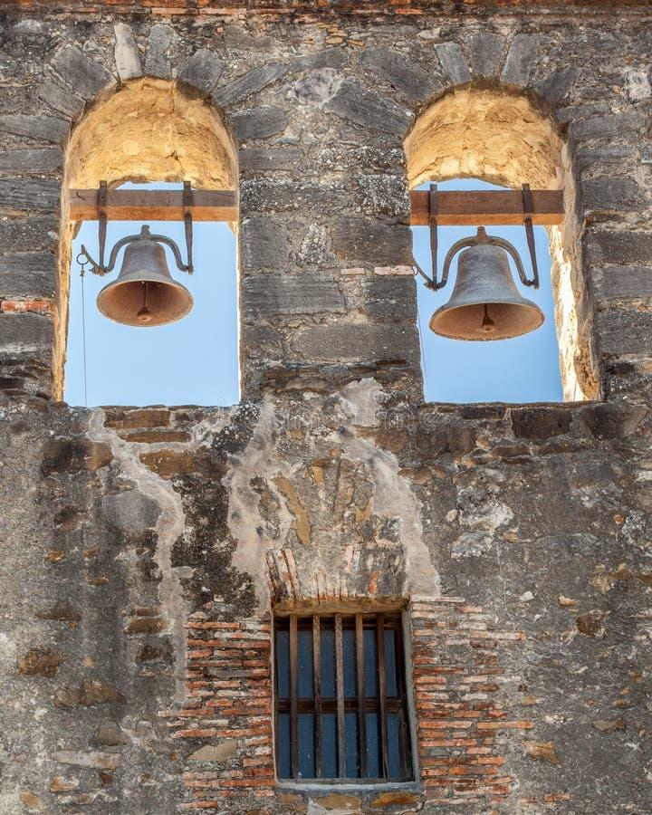 Chiuda su della chiesa Belhi di missione di San Espada fotografia stock libera da diritti