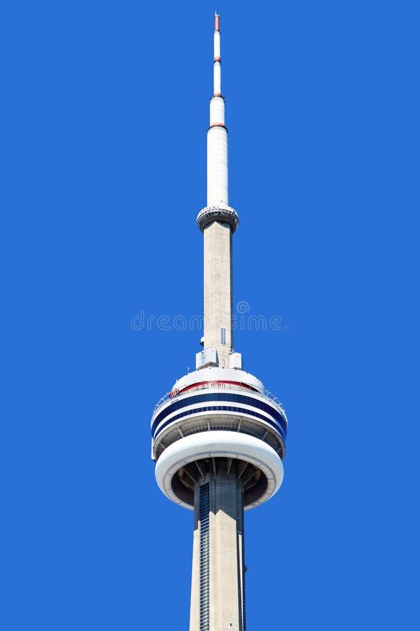Chiuda su della cima della torre del CN a Toronto fotografia stock