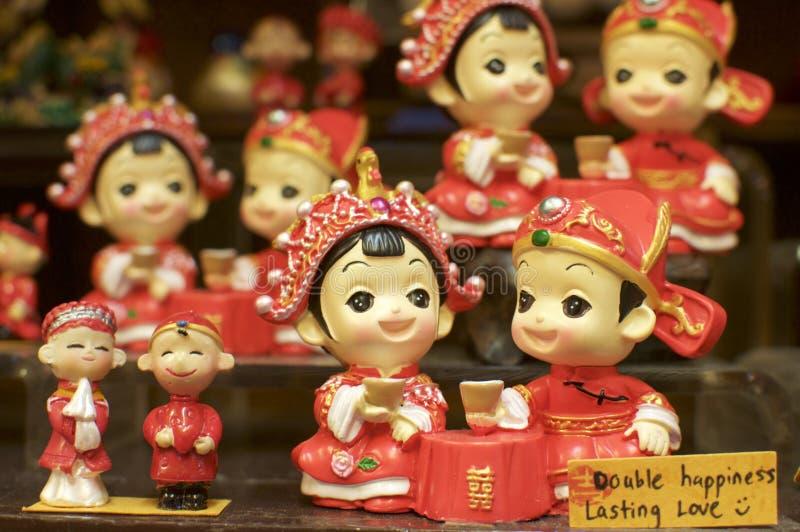 Chiuda su della figurina miniatura cinese immagine stock