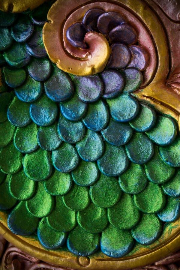 Chiuda su della pelle ceramica che copre un Naga fotografia stock libera da diritti