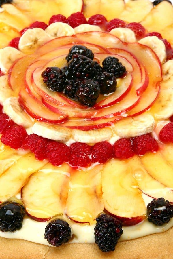 Chiuda in su della pizza della frutta fotografie stock libere da diritti