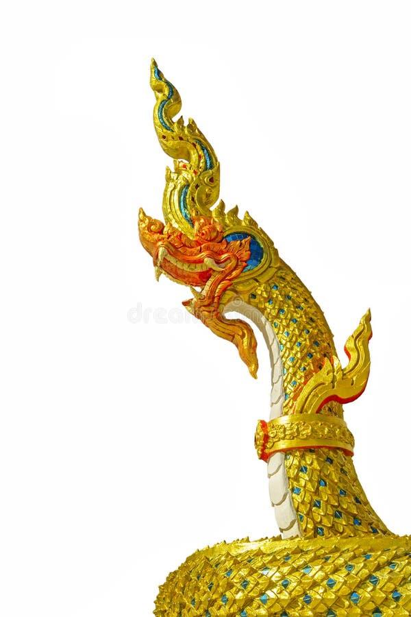 Chiuda su della statua del naga immagine stock