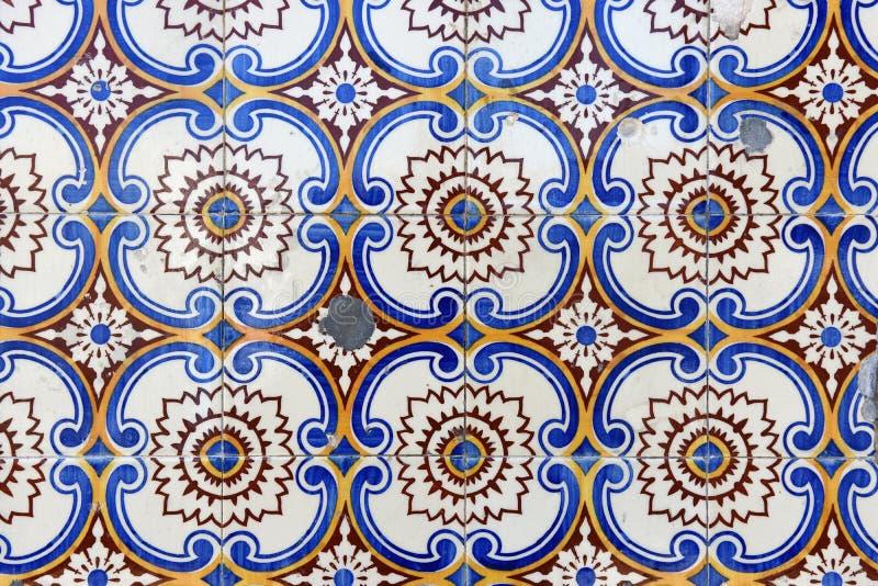 Chiuda su delle mattonelle a Oporto, immagini stock