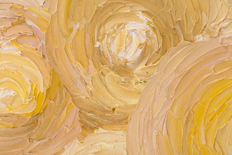 Chiuda su di bella pittura a olio astratta fotografie stock libere da diritti