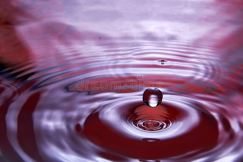 chiuda su di calo nell'acqua che rende differente spruzza immagini stock