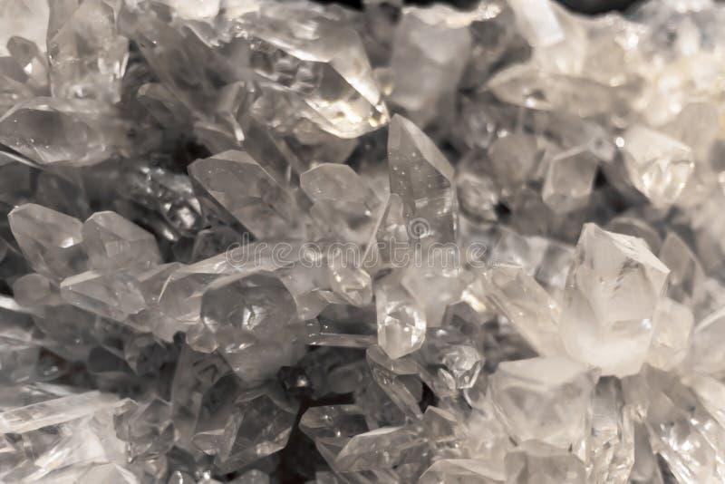 Chiuda su di Crystal Gemstone Transparent Background immagine stock