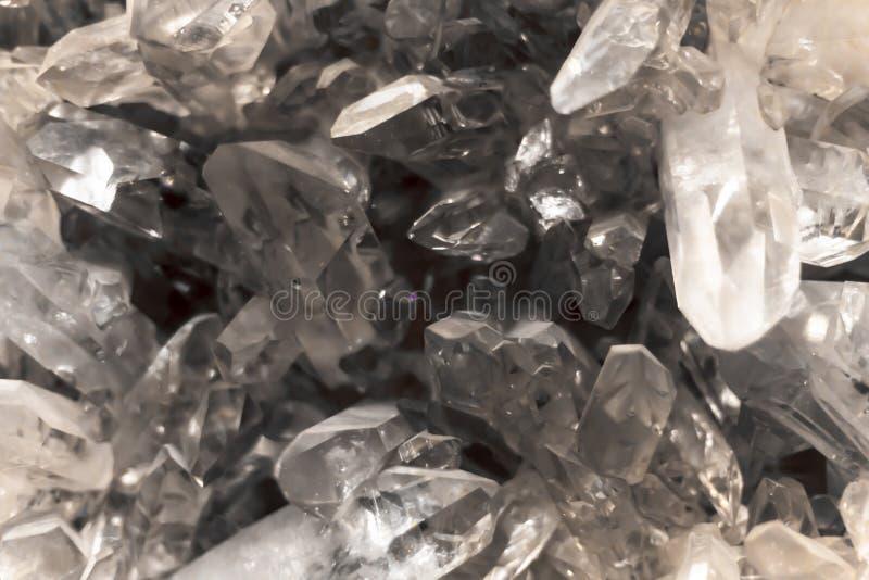Chiuda su di Crystal Gemstone Transparent Background immagine stock libera da diritti