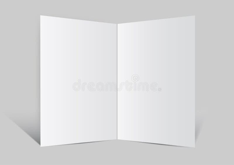 Chiuda in su di un Ba di vettore del Libro Bianco dello spazio in bianco dell'opuscolo royalty illustrazione gratis