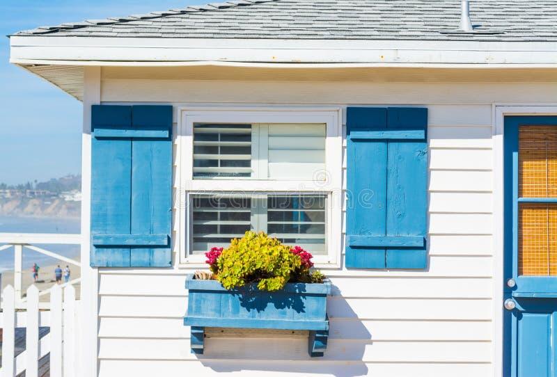 Chiuda su di una casa di legno nella California fotografia stock libera da diritti