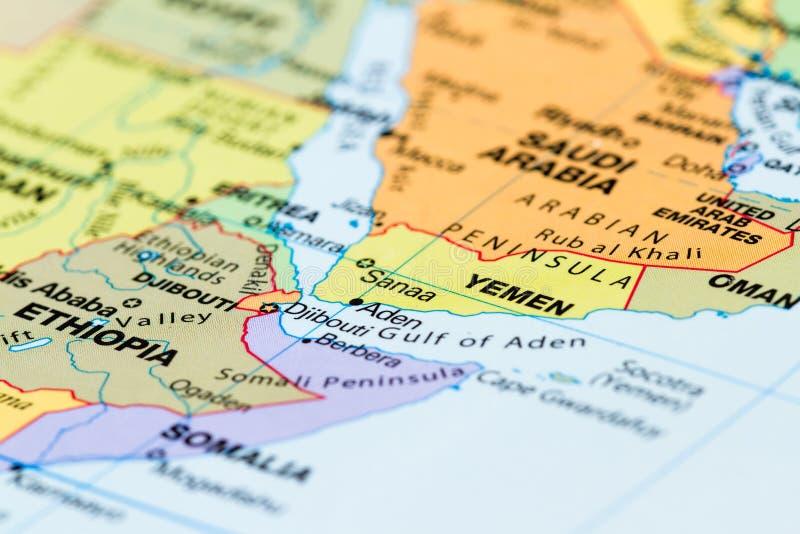 Chiuda su di una mappa di mondo fotografia stock libera da diritti