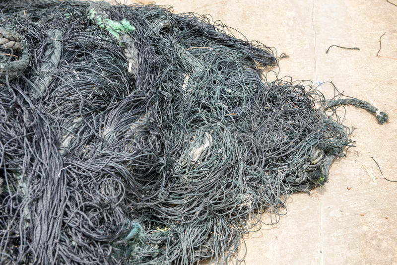 Chiuda su di vecchia rete del pesce immagine stock