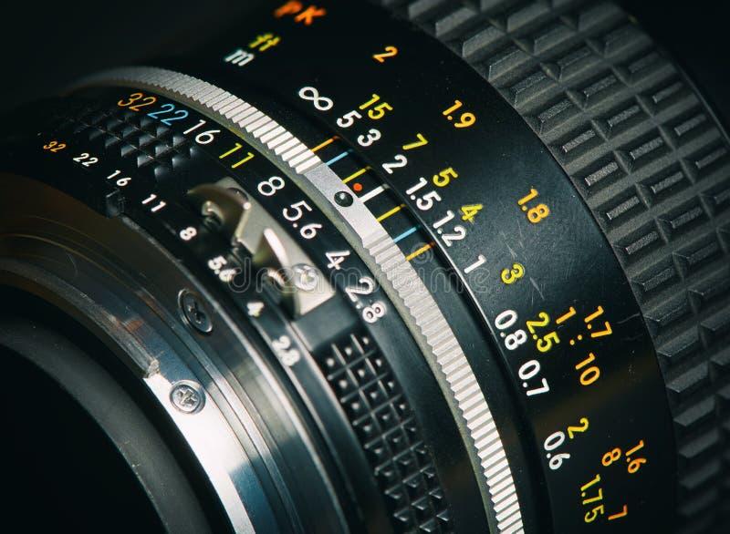 Chiuda su di vecchio obiettivo fotografia stock libera da diritti