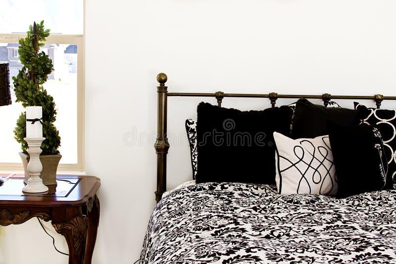 Chiuda in su su una camera da letto fotografia stock libera da diritti