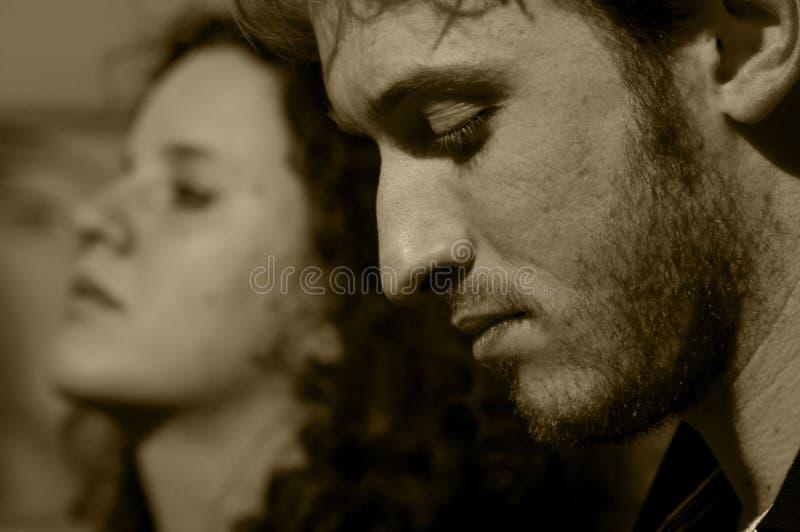 Chiuda in su su una giovane coppia fotografia stock libera da diritti