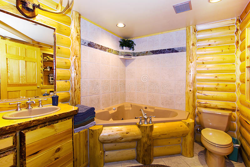 Chiuda in su su una stanza da bagno in una cabina fotografia stock