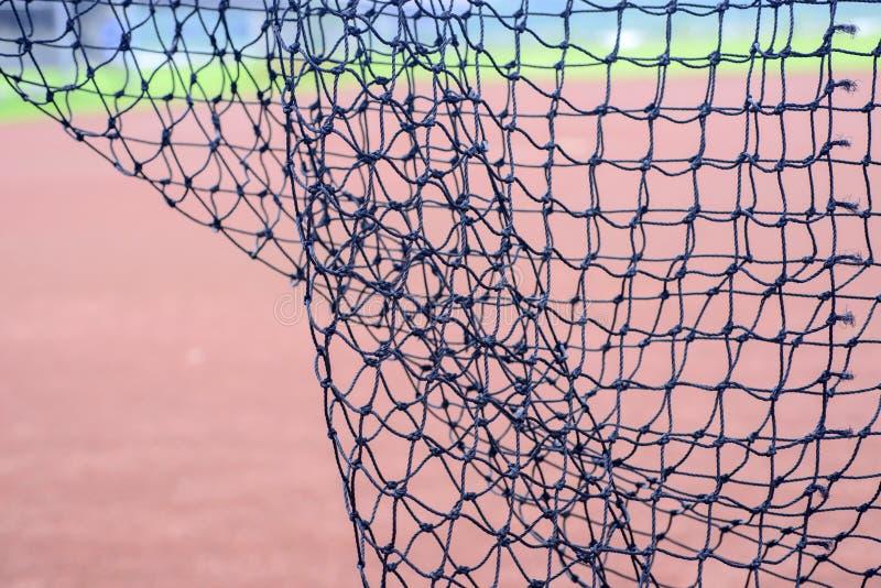 Chiuda su sulla rete del campo di sport immagine stock