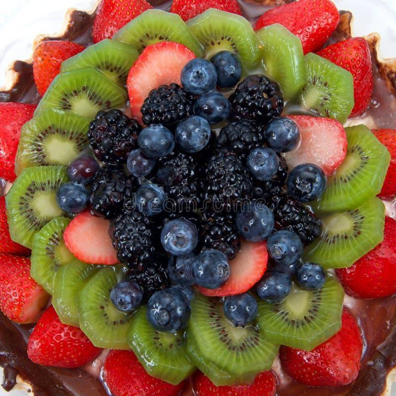 Chiuda su sulla torta di frutta fresca dell'estate immagine stock libera da diritti