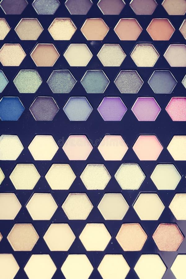 Chiuda sul cosmetico dell'ombretto immagini stock libere da diritti