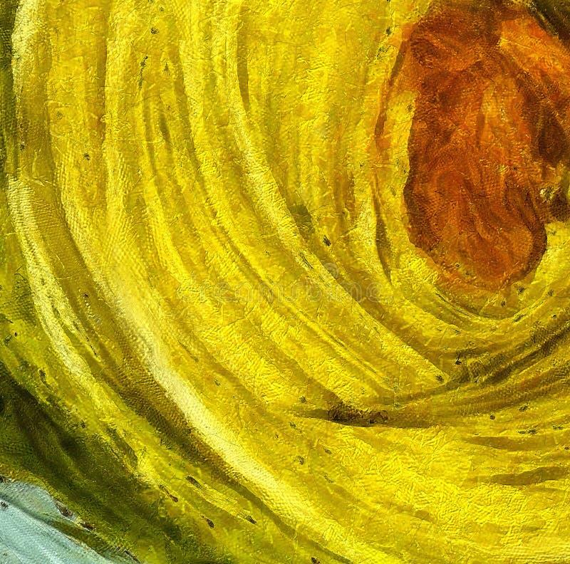 Chiuda sul fondo dell'estratto della pittura ad olio Pennellata strutturata di arte royalty illustrazione gratis