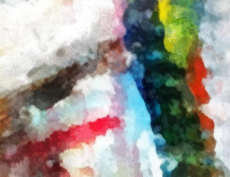 Chiuda sul fondo dell'estratto della pittura ad olio Pennellata strutturata di arte illustrazione di stock