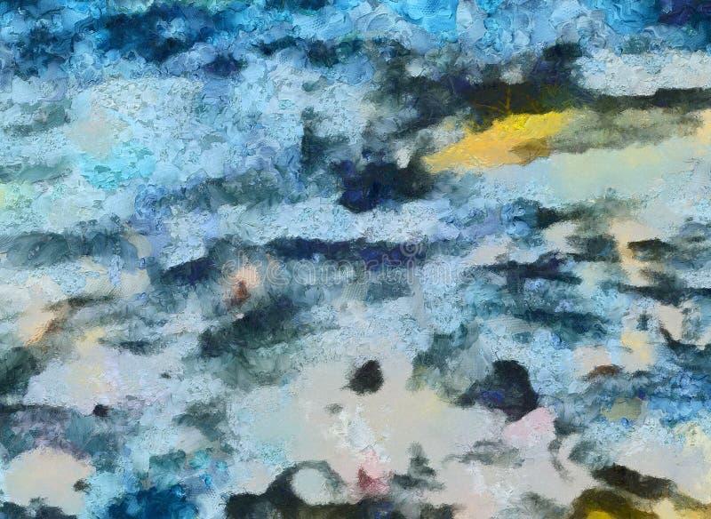 Chiuda sul fondo dell'estratto della pittura ad olio Pennellate strutturate di arte nella macro Parte di pittura Materiale illust illustrazione vettoriale