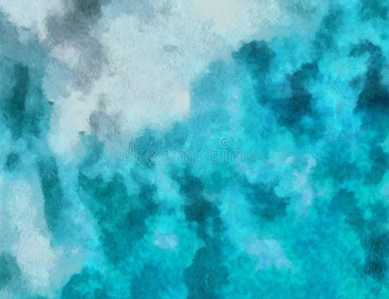Chiuda sul fondo dell'estratto della pittura ad olio Pennellate strutturate di arte nella macro Parte di pittura Materiale illust illustrazione di stock