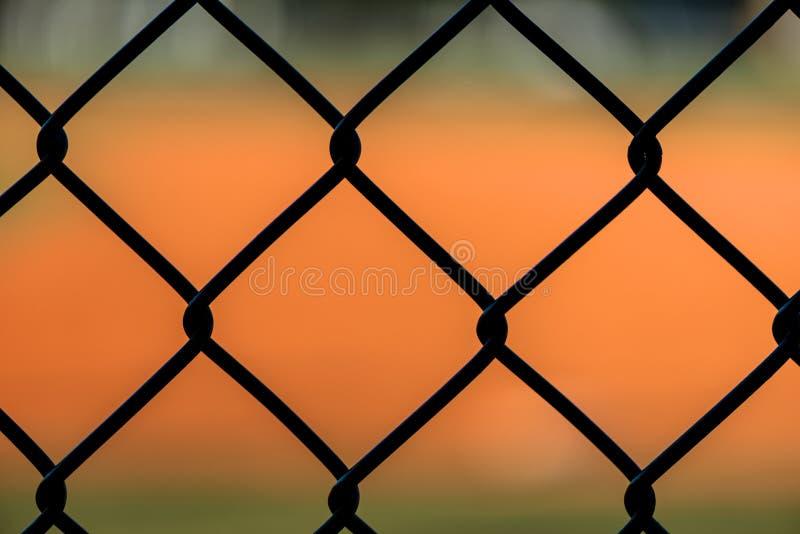 Chiuda sul recinto del collegamento a catena immagini stock libere da diritti