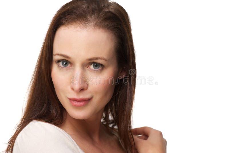 Chiuda sul ritratto di bella donna immagini stock libere da diritti