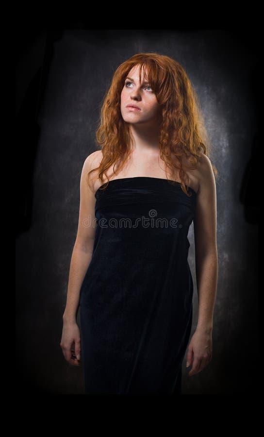 Chiuda sul ritratto di bello modello femminile fotografia stock