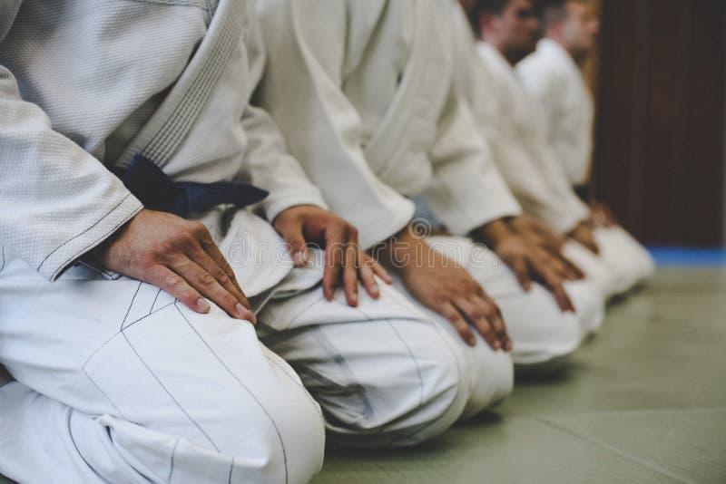 Chiuda sull'immagine di judo fotografia stock libera da diritti