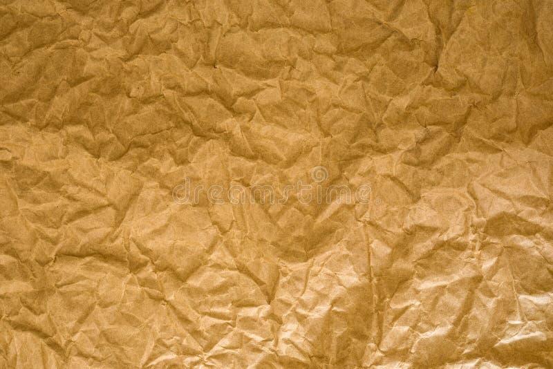 Chiuda sulla carta sgualcita marrone fotografia stock