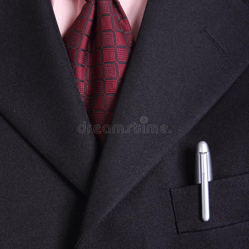 Chiuda sulla cravatta dell'uomo d'affari fotografie stock libere da diritti
