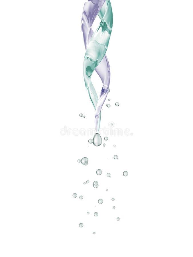 Chiuda sulla pipetta con goccia su bianco illustrazione vettoriale