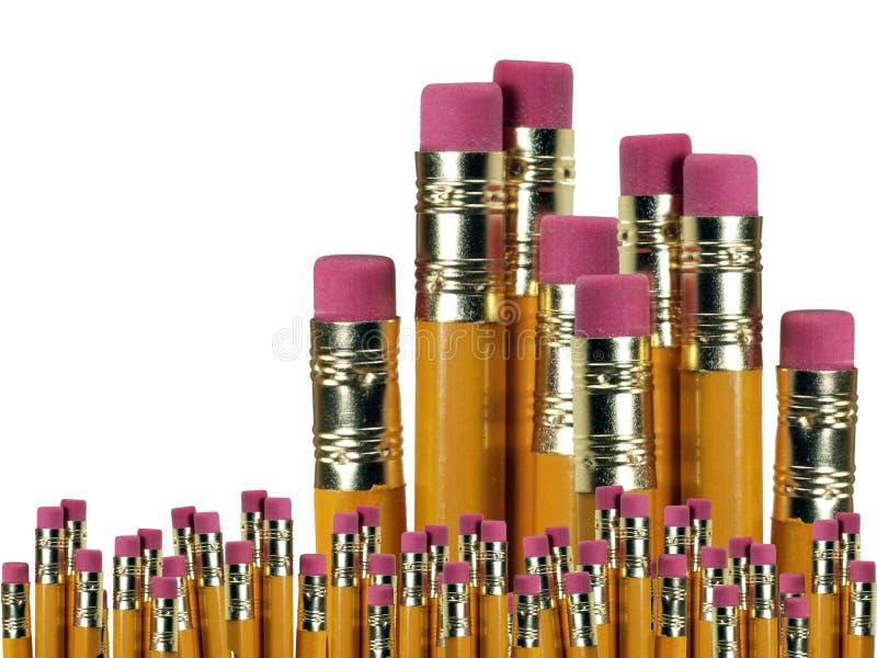 Chiuda sulla priorità bassa delle matite fotografia stock