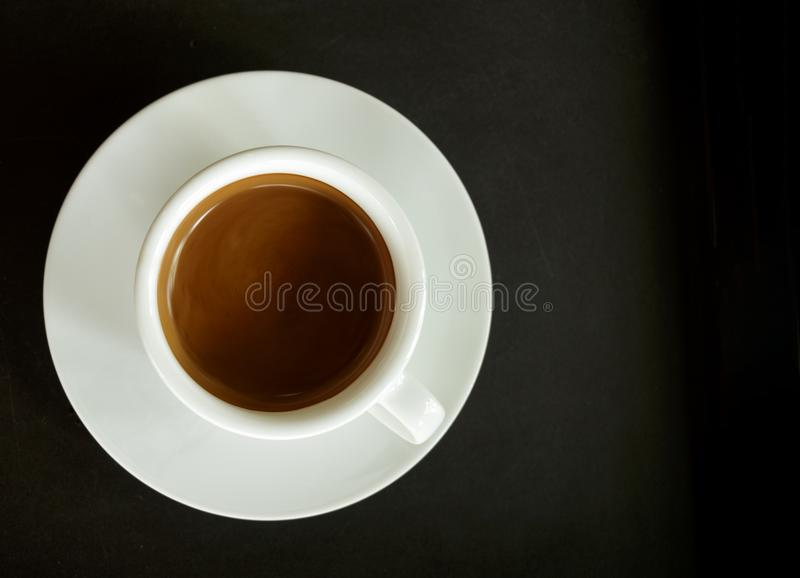 Chiuda sulla tazza di caffè fotografie stock libere da diritti