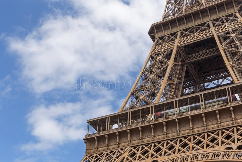 Chiuda sulla torre Eiffel della o immagini stock libere da diritti