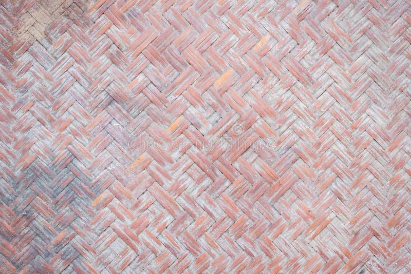 Chiuda sulla vista del dettaglio di un tessuto di canestro di vimini immagini stock