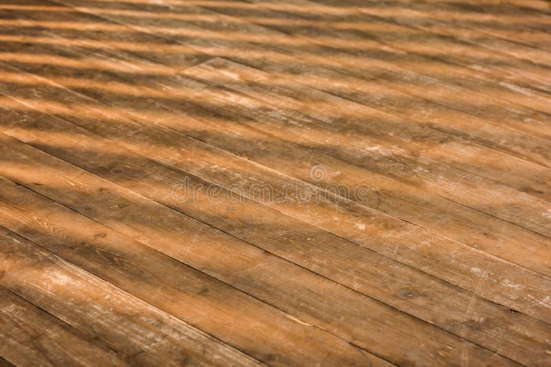 chiuda sulla vista del pavimento di legno marrone fotografia stock