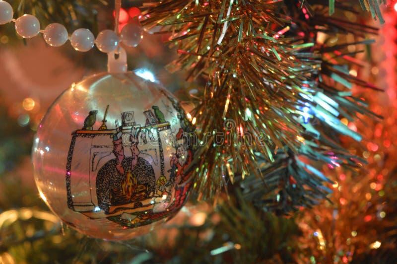 Chiuda sulle decorazioni di Natale immagine stock