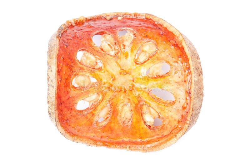 Chiuda sulle fette di frutta secca di cotogno del bengala immagini stock