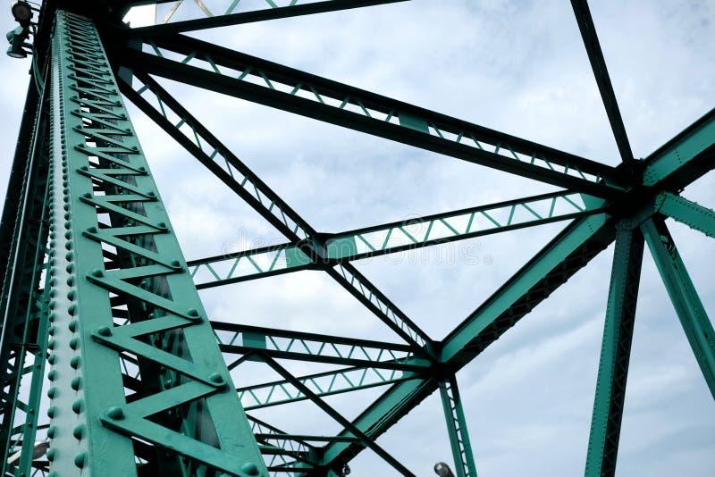 Chiuda sulle travi di ponte del ponte commemorativo fotografie stock