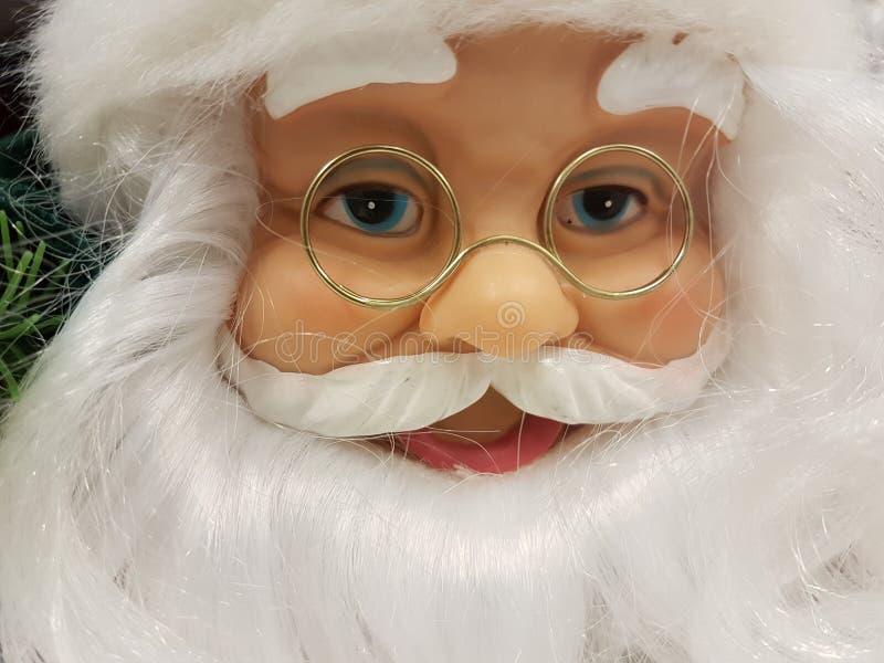 Chiudi faccia clausola Babbo Natale fotografie stock