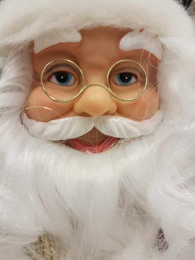 Chiudi faccia clausola Babbo Natale immagine stock